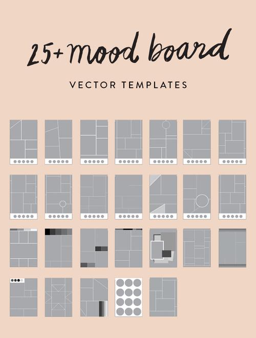 25+ Mood Board Vector Templates — June Letters Studio