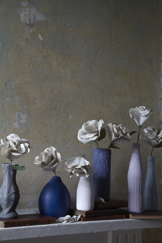 14. 91 Magazine Painted Vases and Paper Flowers by Interior Stylist Joanna Thornhill.jpg