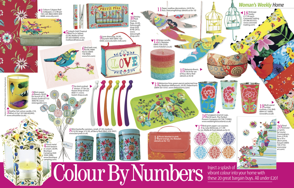 Woman's Weekly Colour by Numbers feature