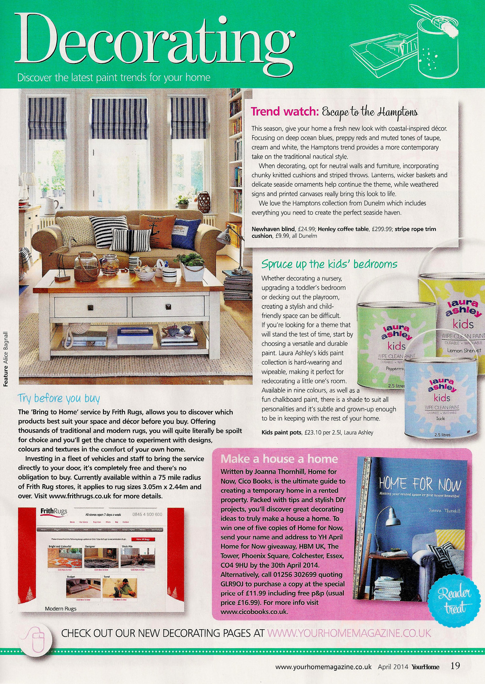 Your Home magazine, April 2014