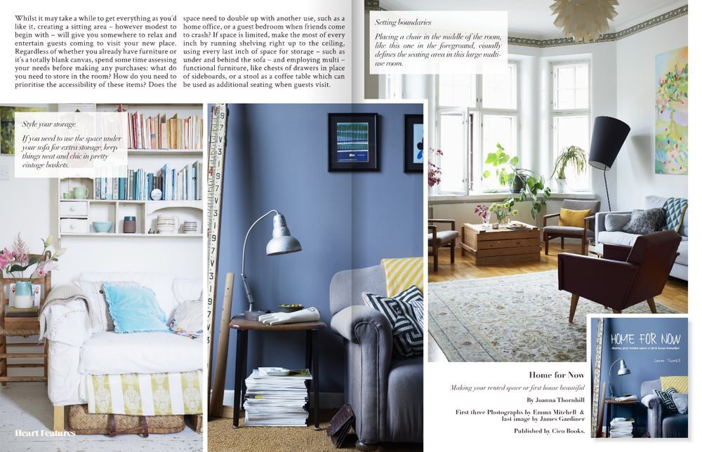 Heart Home magazine April 2014 featuring Home for Now by Joanna Thornhill p2-3.png