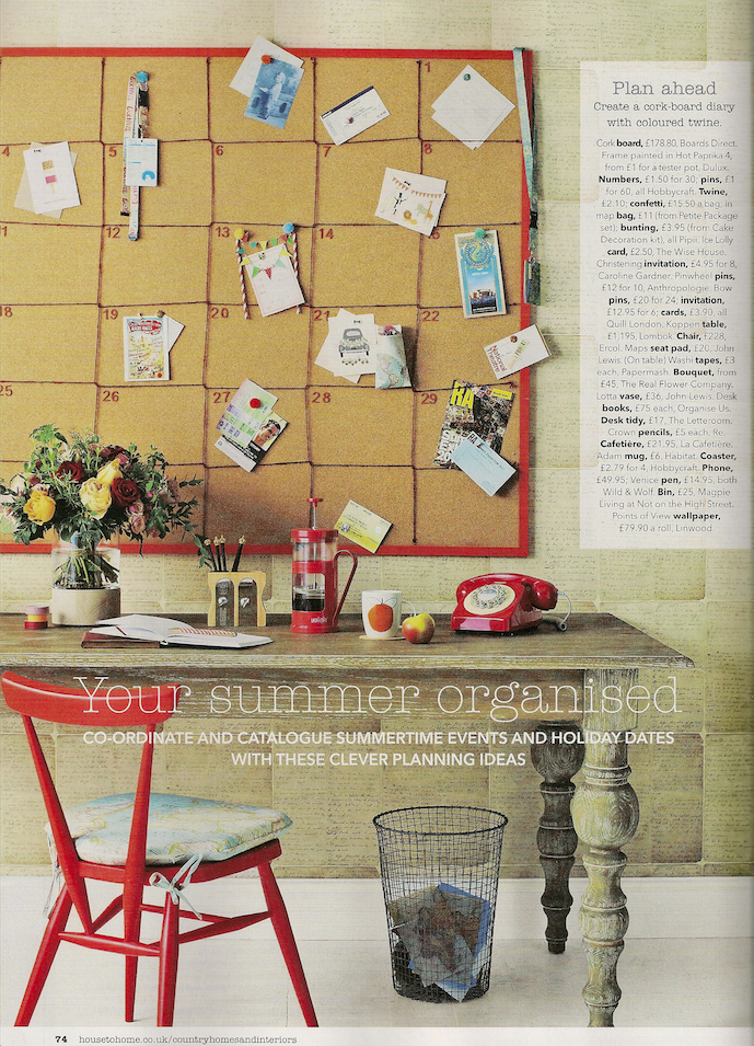 Your Summer Organised feature by Joanna Thornhill, CH&I Mag June14 P1