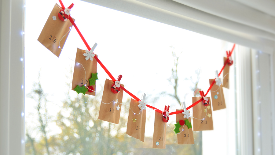 Advent calendar countdown envelopes