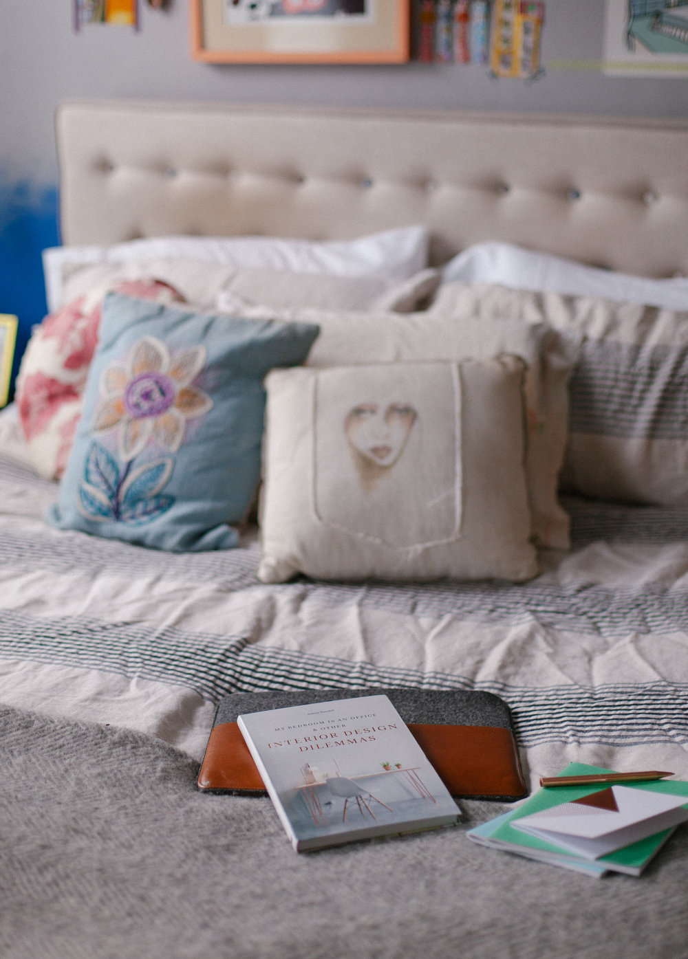 My Bedroom Is an Office by Joanna Thornhill Lifestyle Cover Shot on Bed