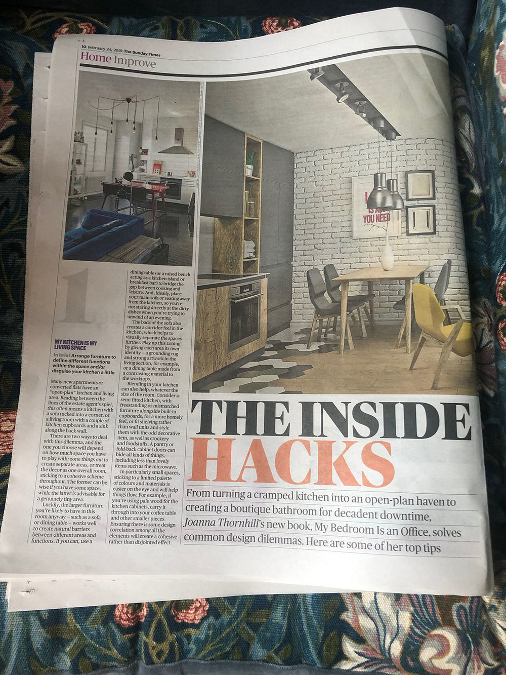 Sunday Times Home featuring My Bedroom Is an Office by Joanna Thornhill 24th Feb 2019 - P1 closer.jpg