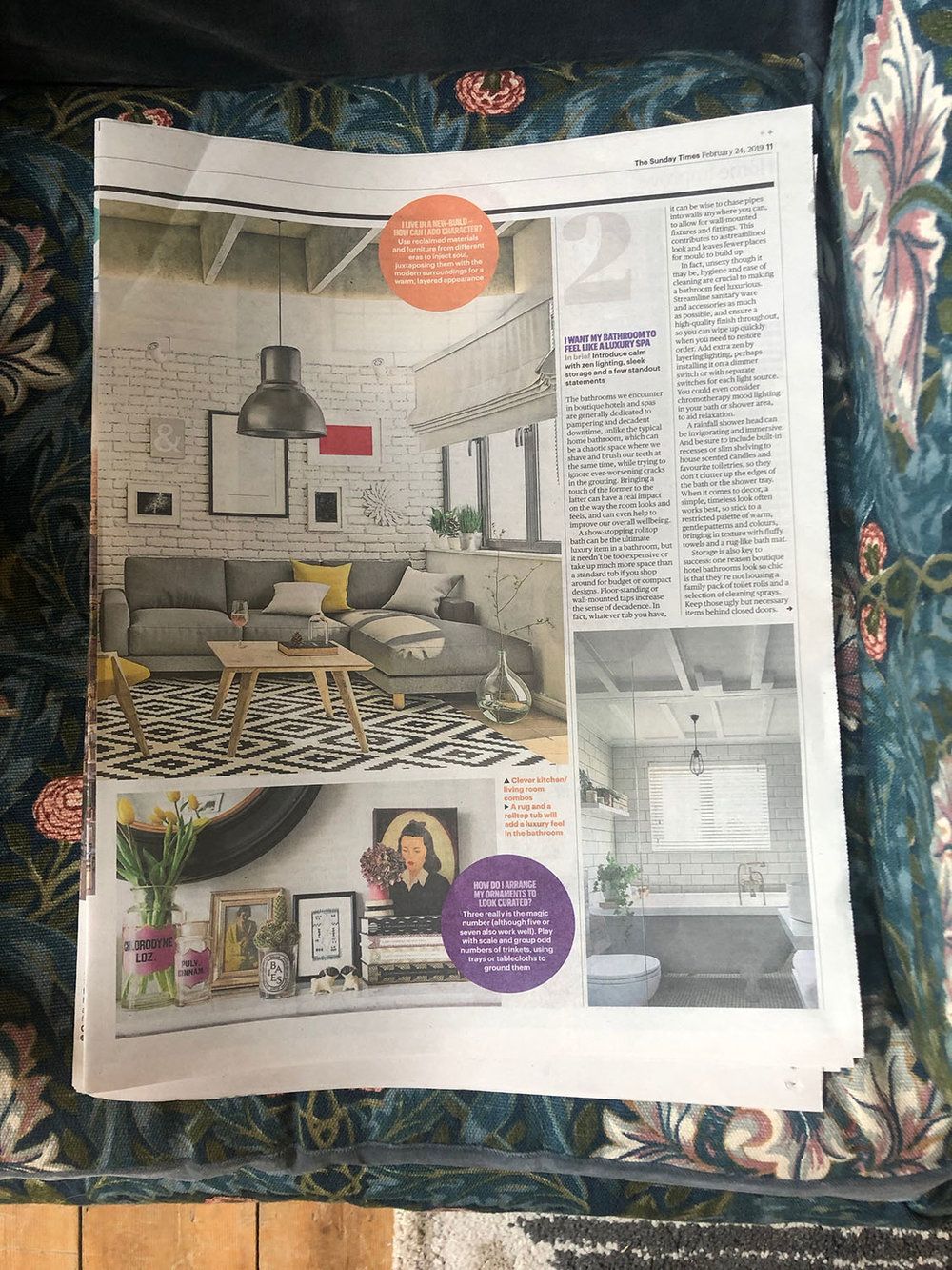 Sunday Times Home featuring My Bedroom Is an Office by Joanna Thornhill 24th Feb 2019 - P2.jpg