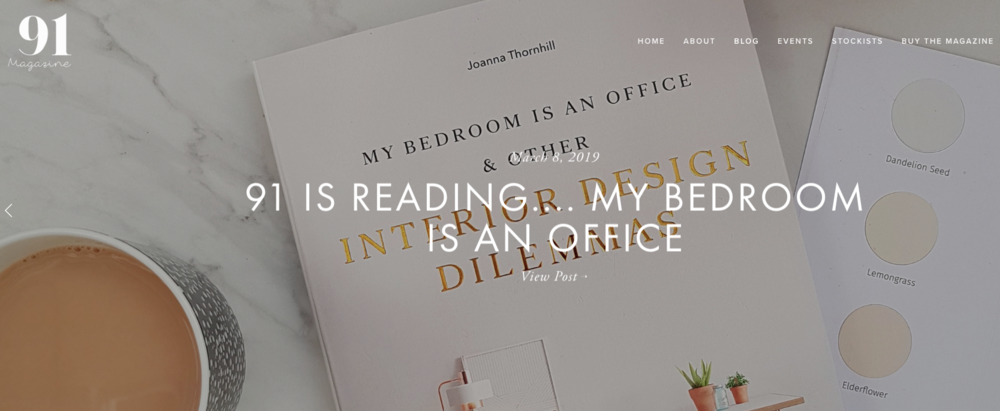 91 Magazine My Bedroom is an Office Review Header.png