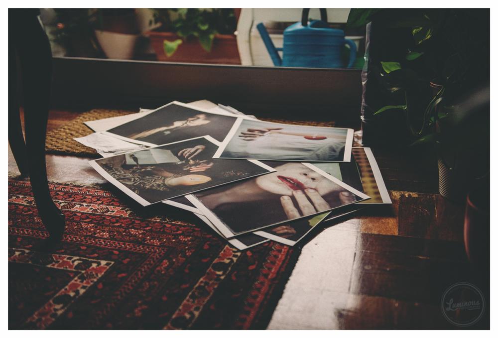 Today, after getting the prints!     hoje, depois de receber as impressões!
