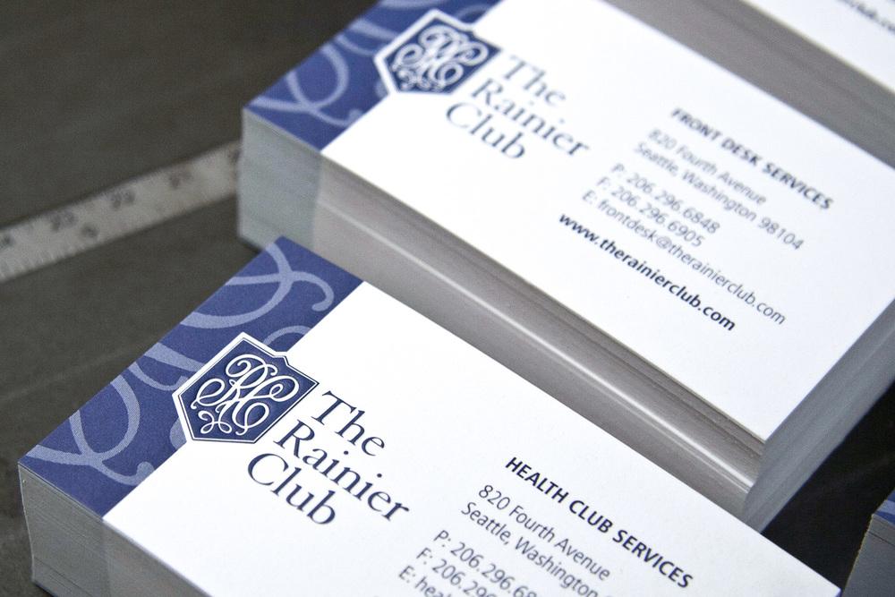 Adam Kinsman—Business Stationery at The Rainier Club