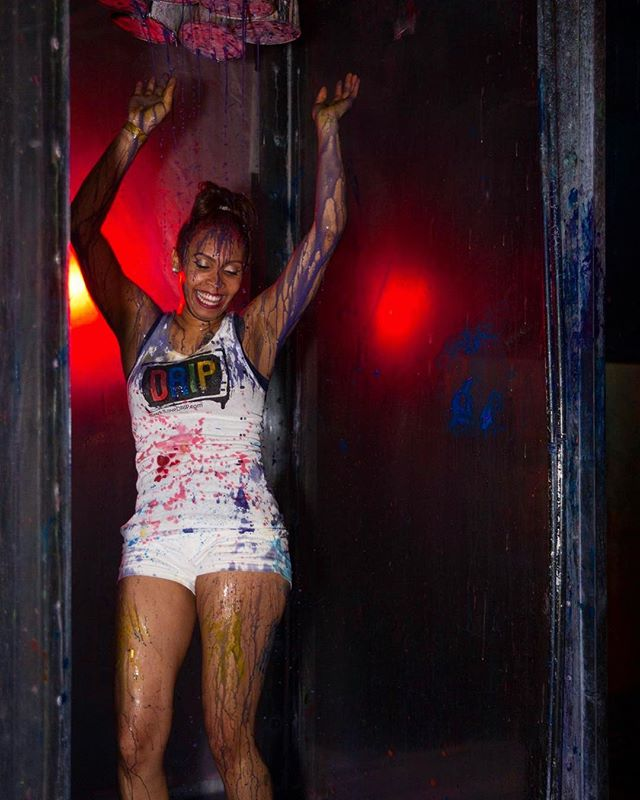 Fun times in the 10 ft paint shower on New Years Eve!  #nyeorlando #nye2018 #orlando #ilovedrip #paint #shower