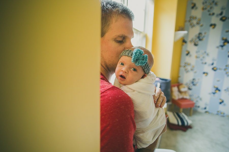 Lifestyle Newborn Session :: The Arrow House