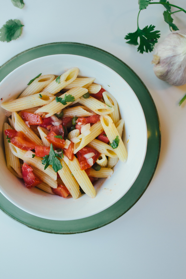 Fresh Summer Tomato Pasta :: The Arrow House