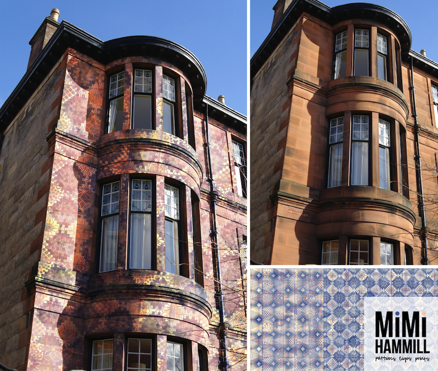 Blink and you'll miss it as the colours are quite similar to the original sandstone. But the texture of this carpet-like pattern makes this lovely Glasgow tenement even prettier.