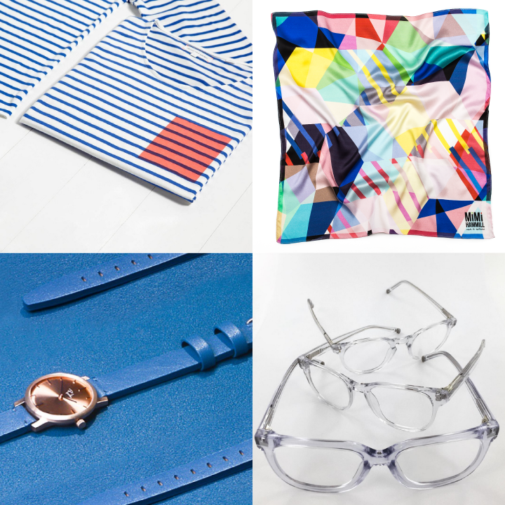 Clockwise from top left: Chinti & Parker, ARTPOP by Mimi Hammill, Iolla, Paulin Watches