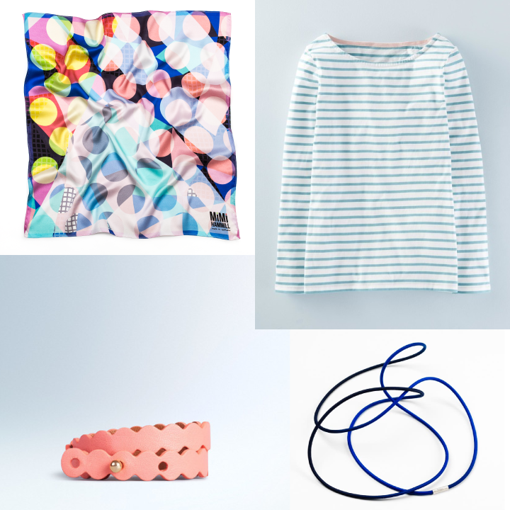 Clockwise from top left: GRID by Mimi Hammill, Boden, Gilly Langton, Boden
