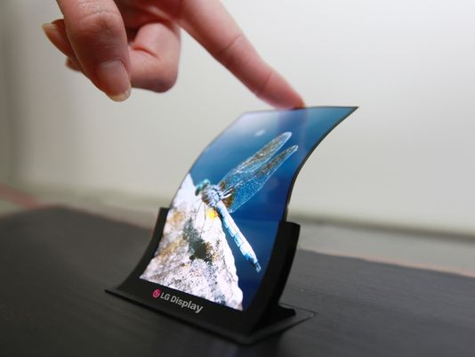 A flexible OLED display from LG. (Photo: LG)