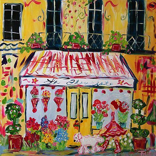 Paris la fleuriste-print