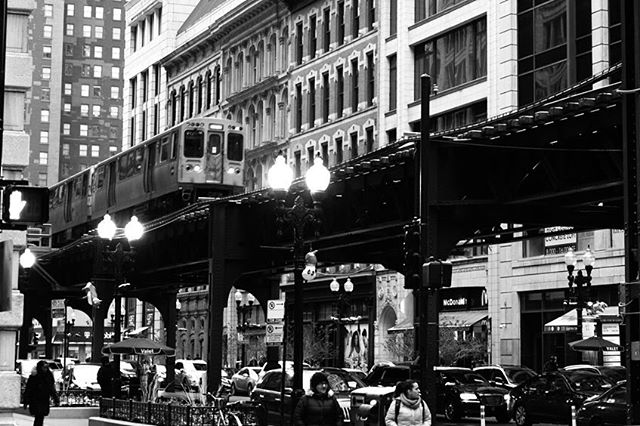 The Elevated Train in Chicago #chicago #elevatedtrain