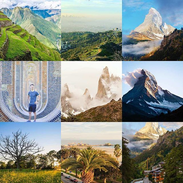 2018 best nine images by number of likes. Seems the Matterhorn was popular!