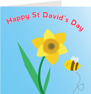 Wales greetings cards little dragon welsh gifts wales souvenirs daffodil card websiteg m4hsunfo