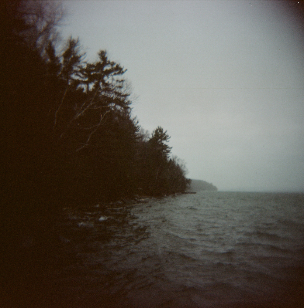Lake Superior through a Holga camera