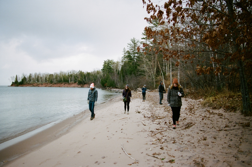 Friends on the beach in Big Bay State Park on Madeline Island