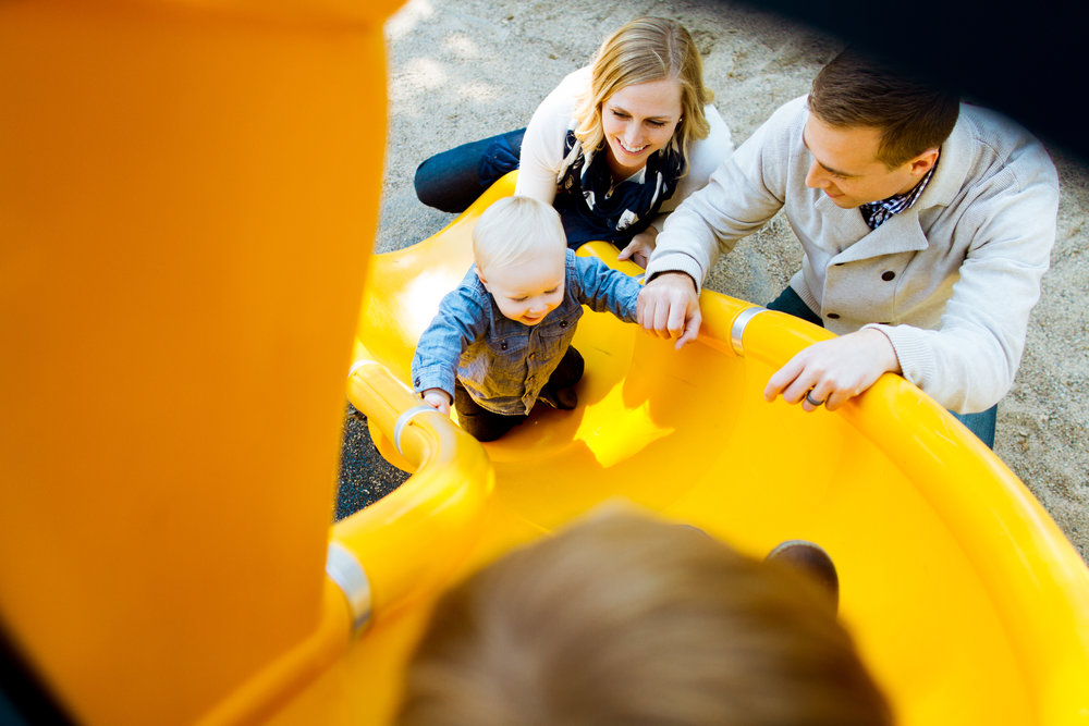 Family Photos on a Playground in Minneapolis, Minnesota