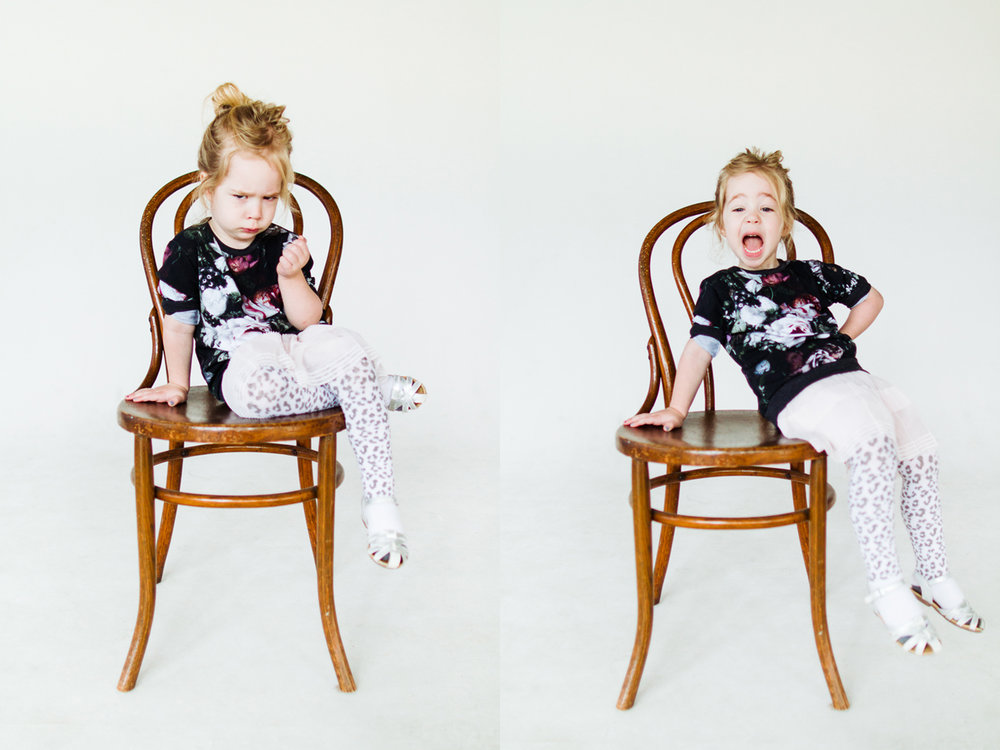 Hilarious photos of kids in a photo studio
