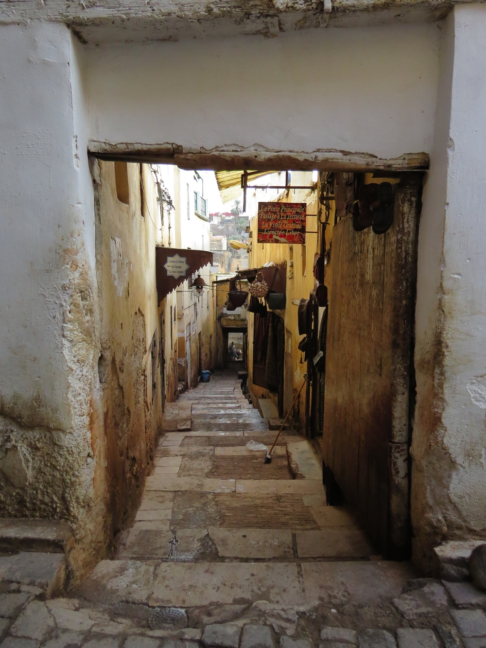 The alleys of the old medina