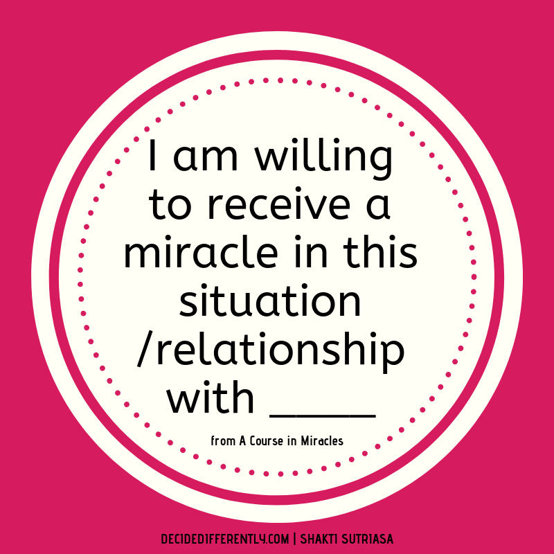 Miracles blog - shakti sutriasa