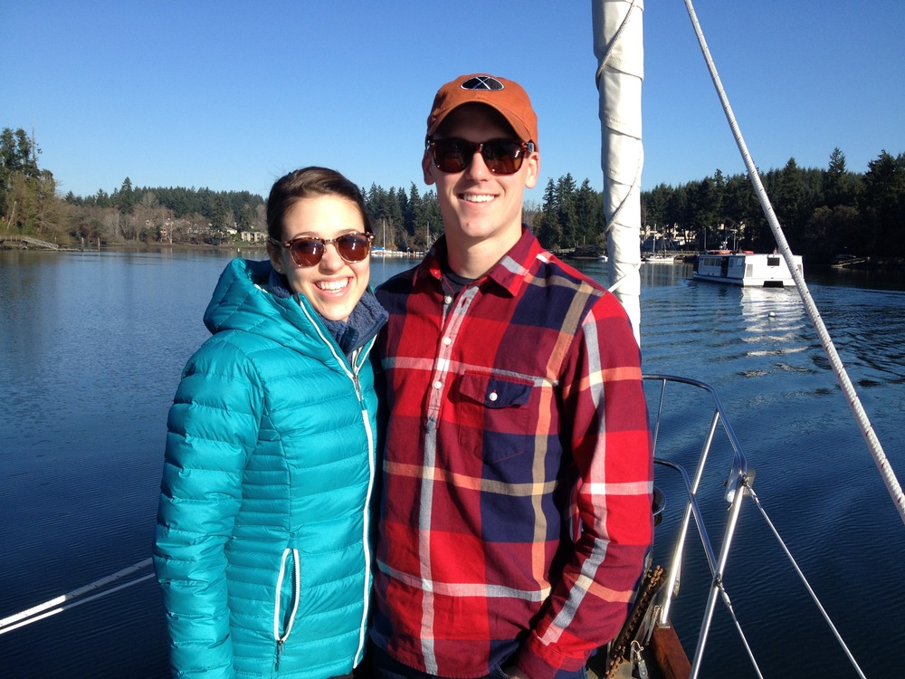 "LAURA AND ADAM ENJOYING A ""TYPICAL"" MARCH MORNING AT ANCHOR"