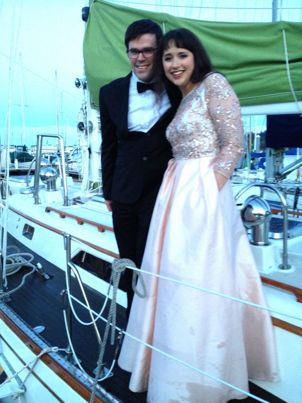 Lovely Micaela and the dapper, debonair Josh start their voyage!