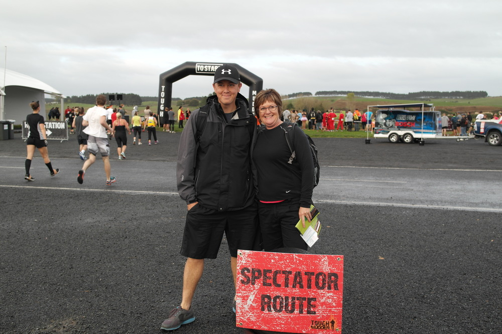 Our fabulous supporters, my husband Layton and the wonderful Barb.