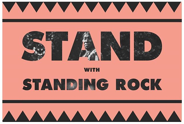 We are an official pick up point for the @Akomplice Stand With Standing Rock Yard Sign. ‎100% FREE!! (One per person). ‎ #StandwithStandingRock #NODAPL  #StandingRockFreeSign‎ #westandwithstandingrock #WaterIsLife #MWG #NativeLivesMatter