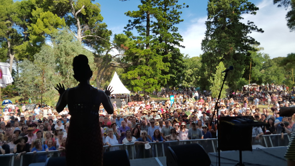 Alsarah onstage At Womad Adelaide Australia 2016