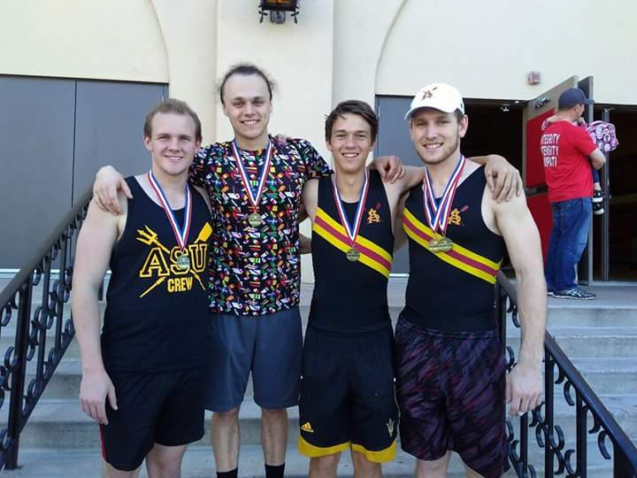 Men's Erg Relay - Brophy Indoor - 1st place