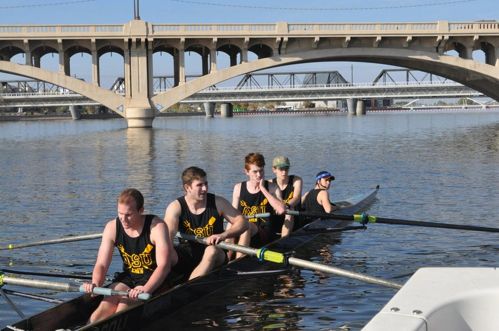 Men's Novice 4+ at ASU v. UCLA scrimmage, Tempe AZ