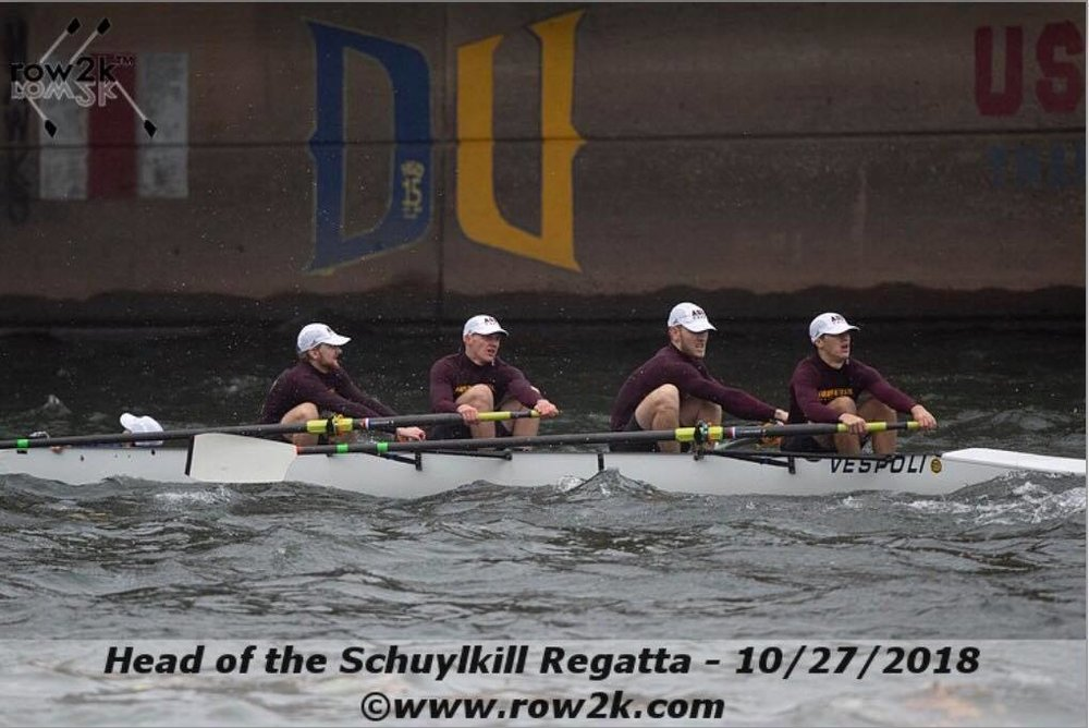 VM4+ Head of the Schuylkill, Boathouse Row, PA