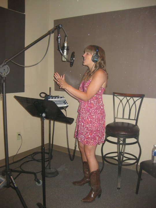 Recording in the vocal booth