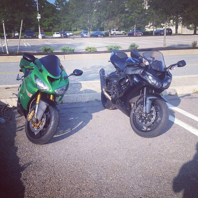 We them boys #kawasaki #kawilife #636 #bikelife #ninja #zx6r #zx10r