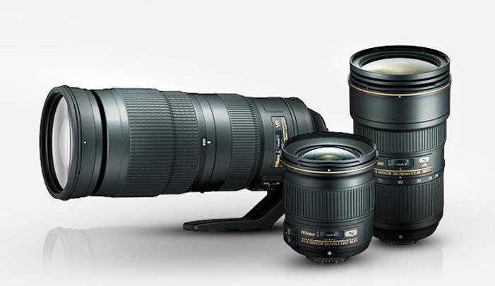 24-70mm f/2.8, 200-500mm f/5.6, 24mm f/1.8