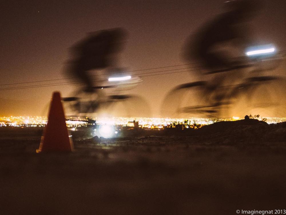 All-City Bandit Cross - Las Vegas after dark - OMD EM5 with Panny 25mm f1.4