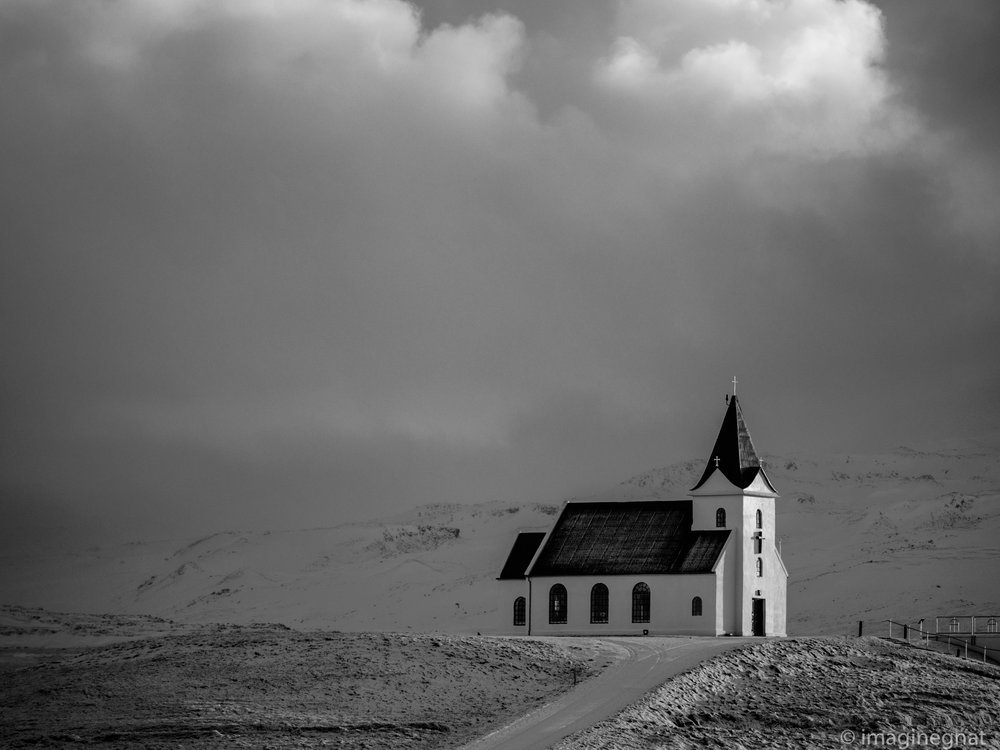 A beautiful church near Olasvik, Iceland - Olympus OMD EM1ii with Panasonic 100-400