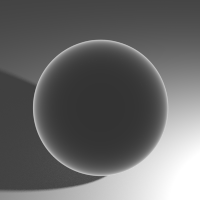 This shows the Fresnel distribution (IOR 1.450.) Areas facing away will get more Gloss.