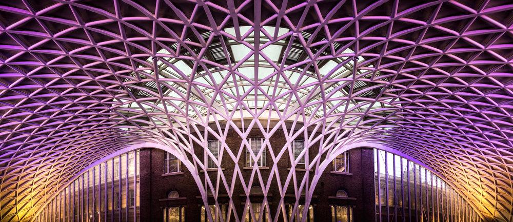London Kings Cross train station grid matrix