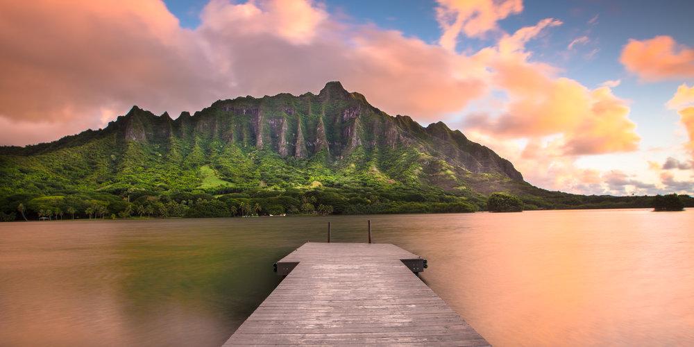 Oahu secret island sunrise dawn paradise pastel windward beautiful