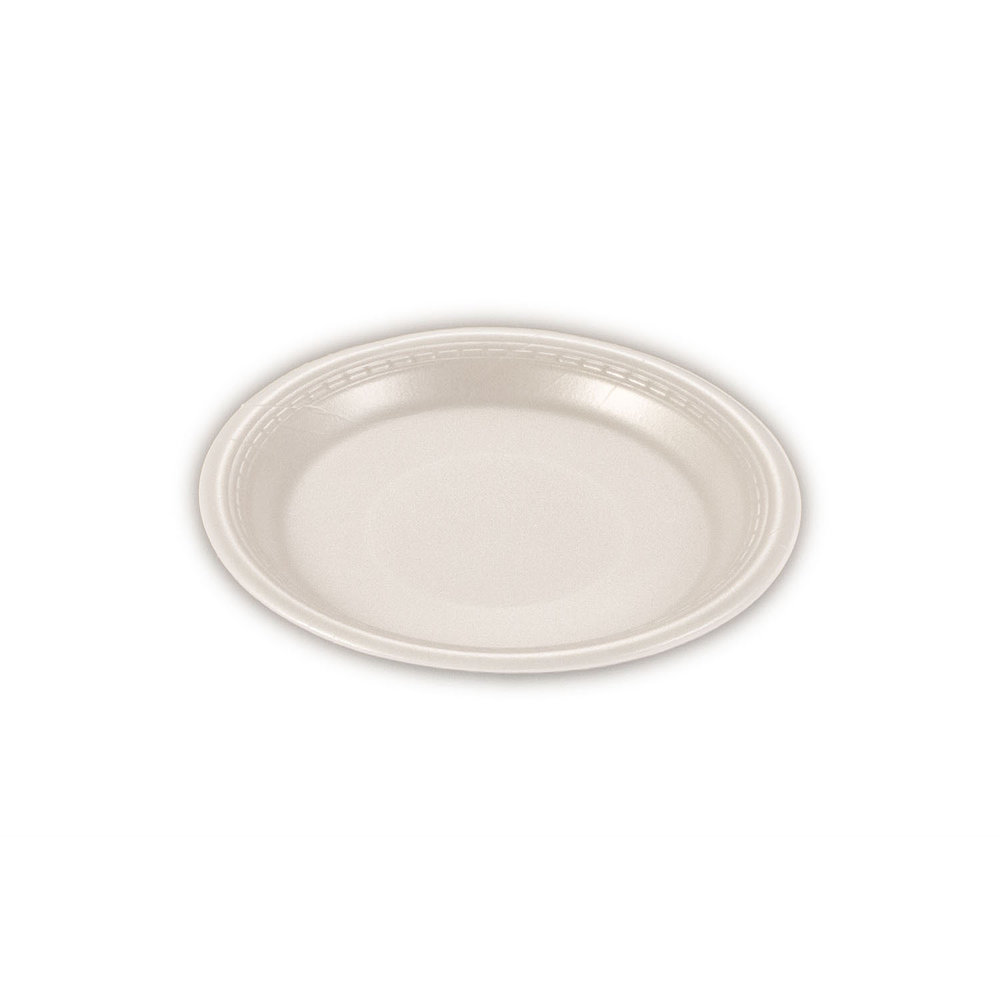 iK-FP09 Plate Round White    9 inch 100per sleeve 500 carton