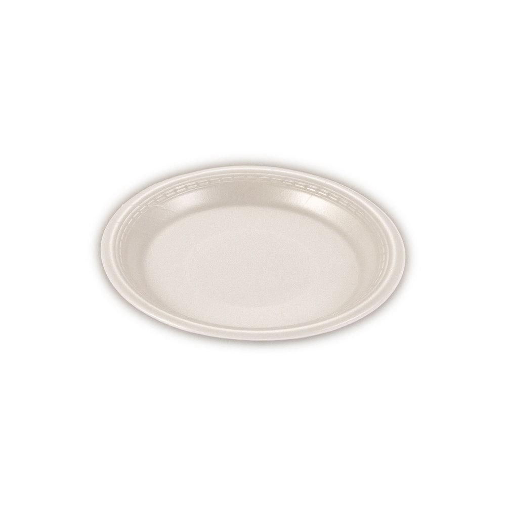 iK-FP09 Plate Round White    9 inch 100per sleeve 500 carton