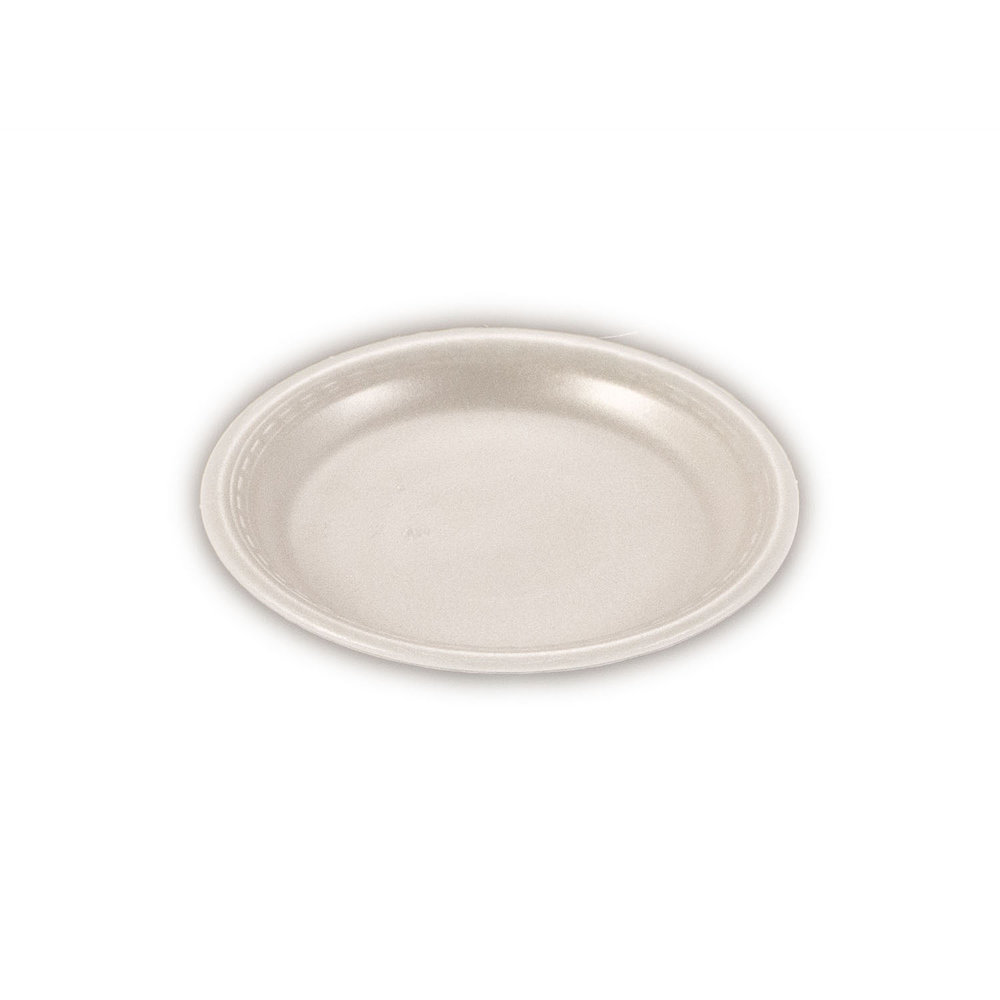 iK-FP07 Plate Round White    7 inch 100 per sleeve 1000 carton