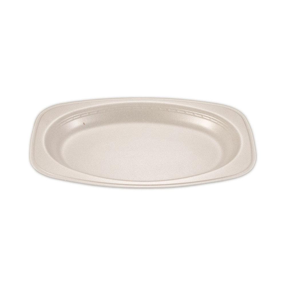 iK-FP108 Plate Oval White    10 x 8 inch 100per sleeve 500 carton